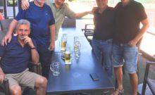 Herren 65 auf der Terrasse des Clubheims